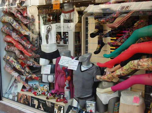 Vitrine de collants