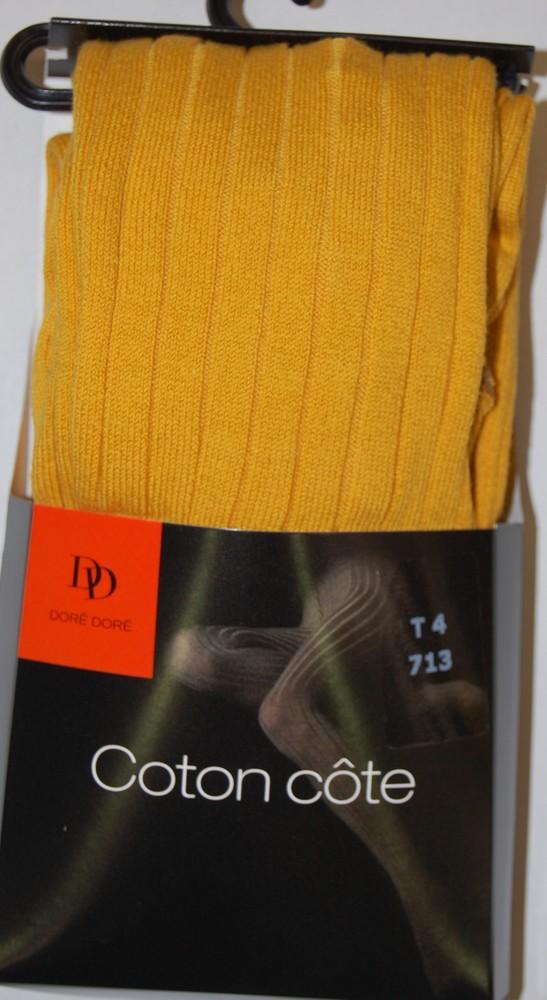 Collant-côtes-jaune
