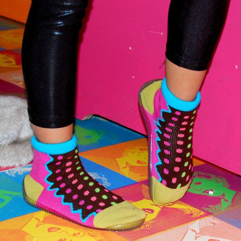 Shoes-pois-multicolouleurs