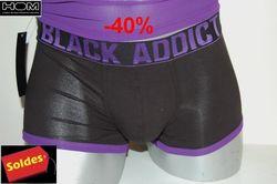 Boxer-Hom-black -addict-coton-bord-violet