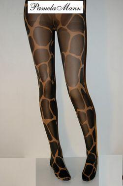 Collant imprime pamela mann Grand giraffe
