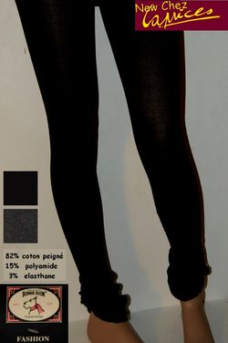 Legging-boucle bouton-Bonnie Doon-noir