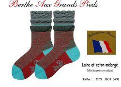 Chaussettes berthe aux grands pieds enfants rayures volcan frou-frou