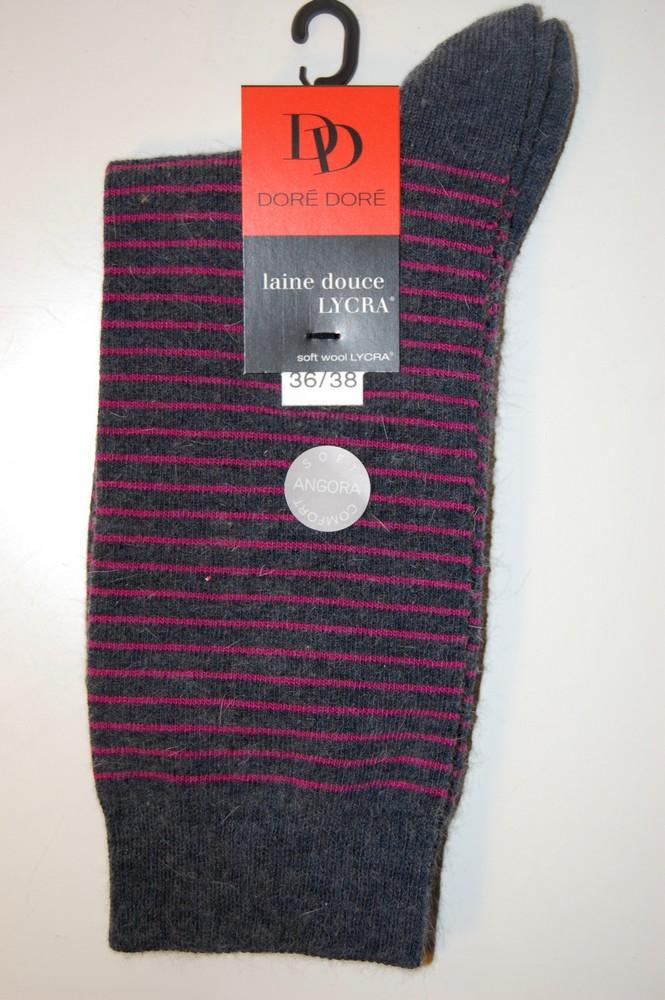 Chaussettes Doré-Doré laine douce rayures violet