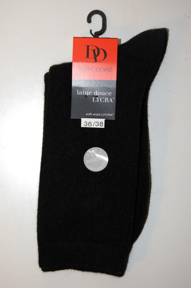 Chaussettes Doré-Doré laine douce noire