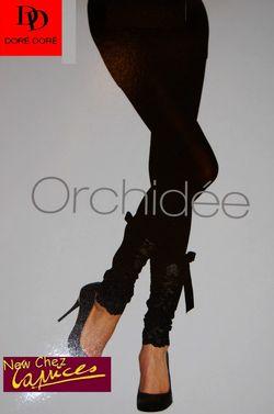 Legging DD finition dentelle baroque orchidée