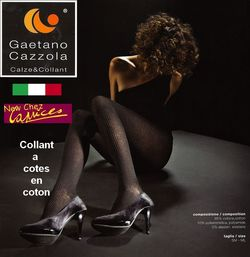 Collant Cazzola Gaetano en coton à cotes