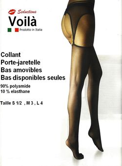 Collant Sx 126 Porte jaretelles amovibles
