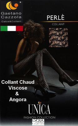 Collant Chaud dentelle  viscose et angora Gaetano Cazzola