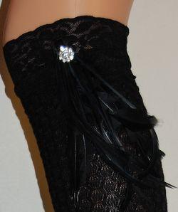 Mi-bas Cazzola Gaetano pieds de poule coton à plumes détails