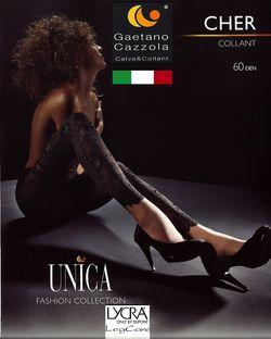 Collant opaque 60 Den effet Legging dentelle Cher Cazzola Gaetano