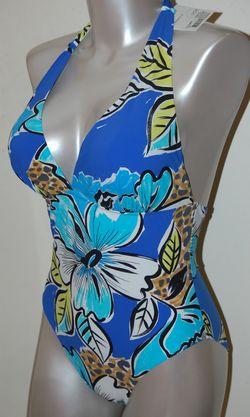 Maillot de bain Empreinte dos nu Tropical Bleu
