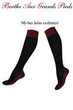 Mi-bas berthe aux grands pieds Laine et cachemire-noir