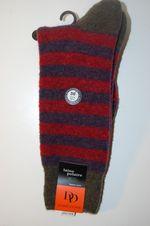 Chaussettes DD en laine polaire rayures
