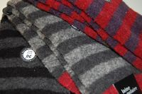 Chaussettes DD en laine polaire rayures assorties