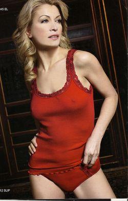 Top 5345 laine et soie Moretta-rouge