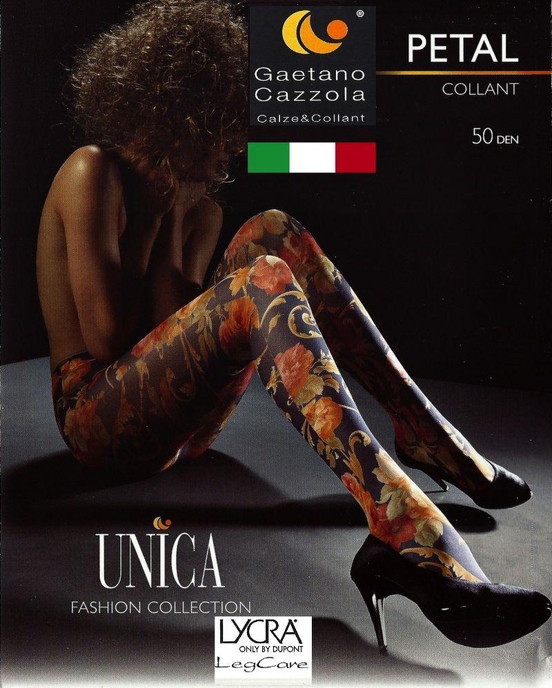 Collant Opaque 50 Den Petal Cazzola Gaetano, imprimé a fleurs