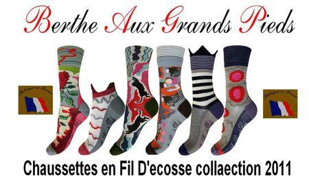 Assortiments de chaussettes Berthe aux grands pieds fil d'ecosse femme