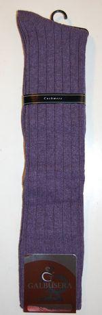 Mi-Bas homme Galbusera en cachemire blend violet