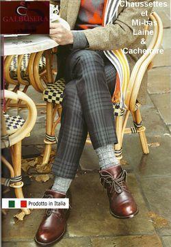 Chaussettes en Cachemire en aline cachemire pour homme