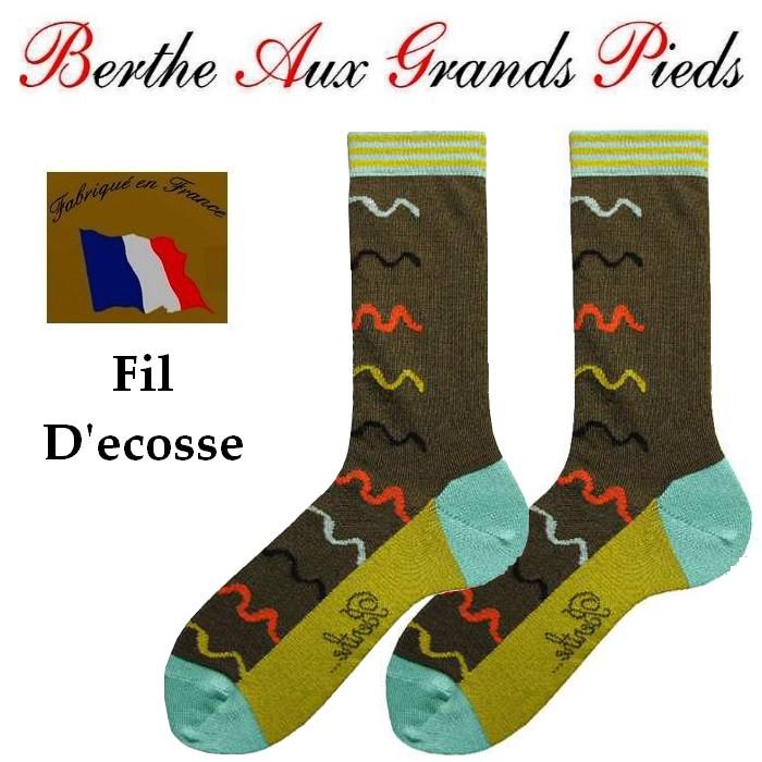 Chaussettes Berthe aux grands pieds homme vagues multi-colores