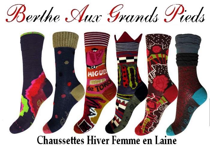 Collection chaussettes hiver femme laine
