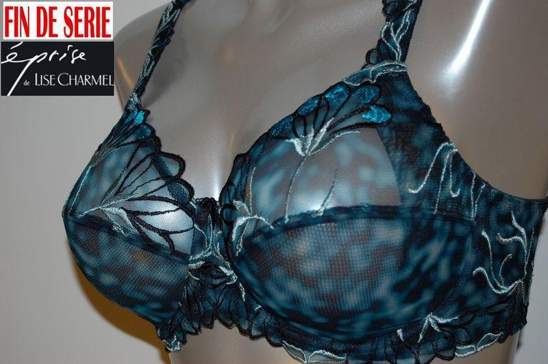 Turquoise florale Eprise de Lise Charmel soutien-gorge