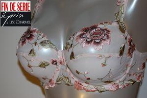 Fleuris rose romance Eprise de Lise Charmel soutien gorge