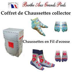 Coffret collector Berthe aux Grands Pieds  de chaussettes et socquettes Japonaises