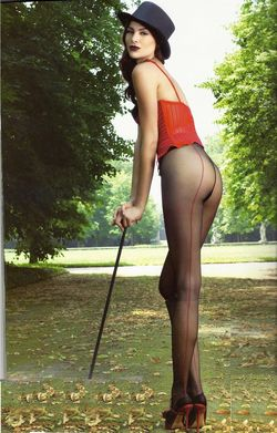 Collant Jessy Trasparenze couture rouge
