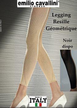 Collant sans pieds Emilio Cavallini resille geometrique