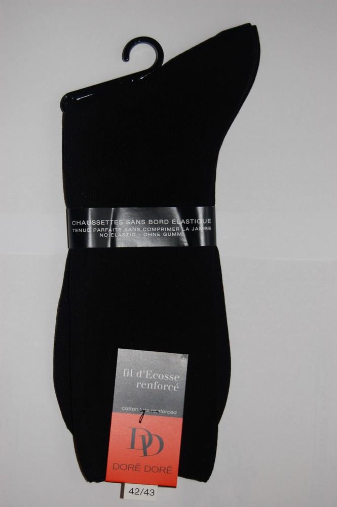Chaussettes Sans elastique fil d'ecosse Homme noir
