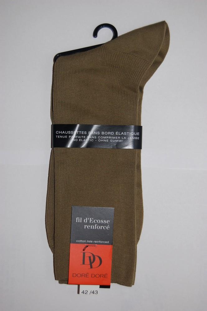 Chaussettes Sans elastique fil d'ecosse Homme Beige glace