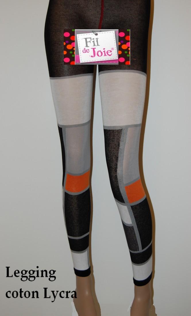 Legging Fil de Joie patchwork rectangulaire rose