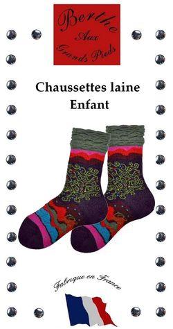Chaussettes enfants Berthe aux grands pieds arbre de vie