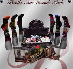 Les chaussettes hiver de berthe aux grands pieds tendances punk et anglo saxonne