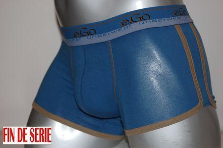Boxer Hom coton coton sport bleu