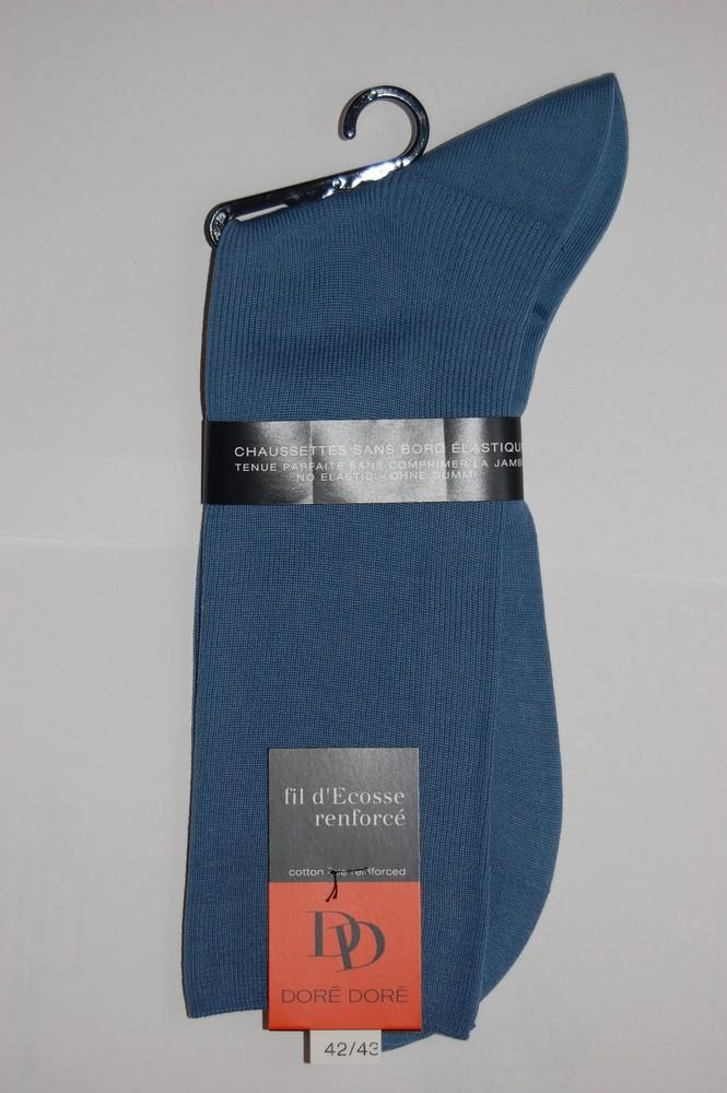 Chaussettes Sans elastique fil d'ecosse Homme bleu ciel