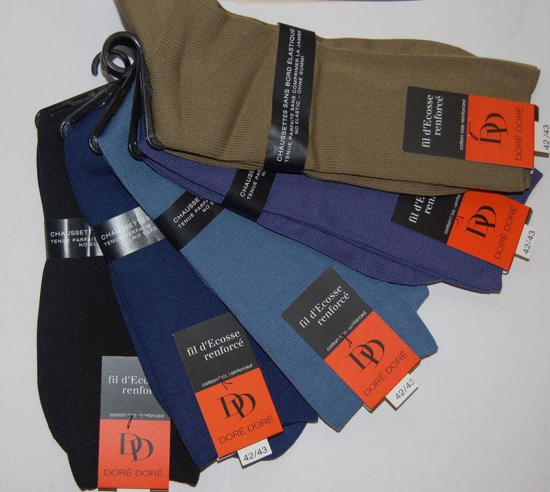 Chaussettes Sans elastique fil d'ecosse Homme assortiments
