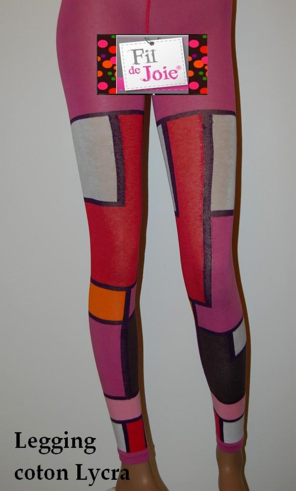 Legging Fil de Joie patchwork rectangulaire