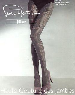 Collant Pierre Mantoux Jillian dentelle géométrique