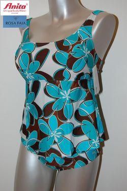 Tankini anita Fleurs marrons turquoise