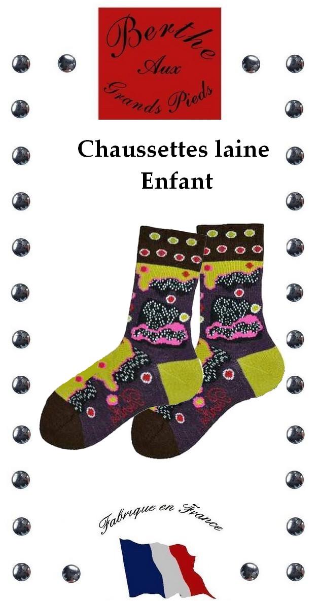 Chaussettes Berthe aux grands pieds fleurs ppsy