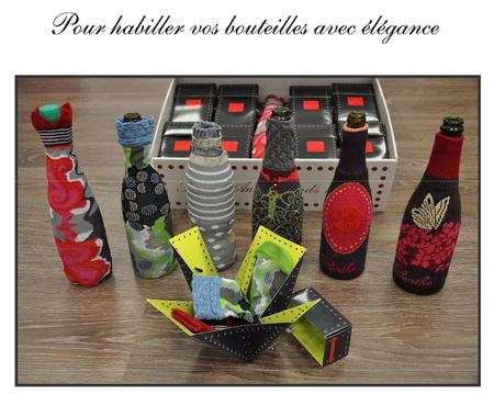 habillez vos bouteilles avec élégance Berthe aux grands pieds