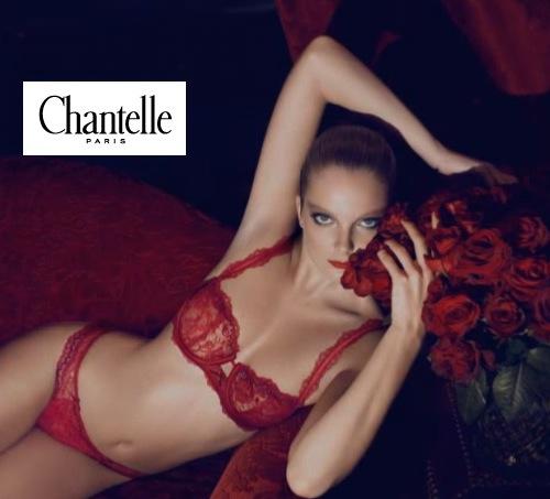 Soutien gorge Chantelle Romance ensemble 2 rouge