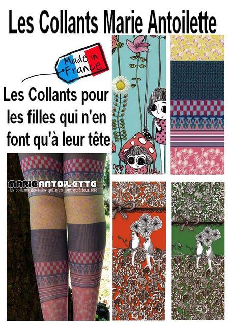 La nouvelle collection de collants  Marie Antoilette