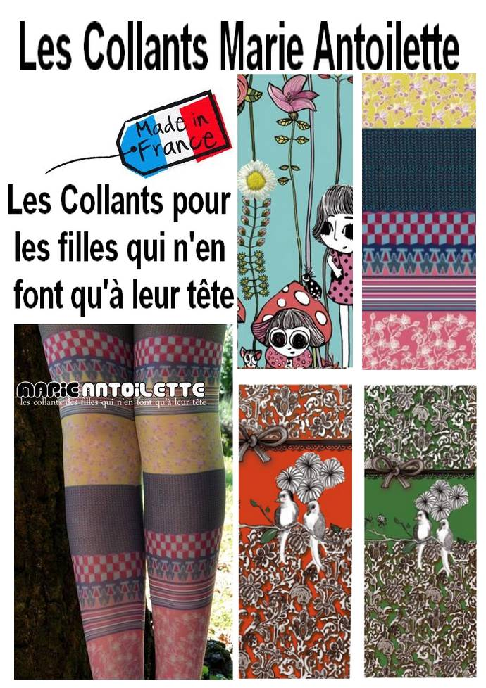 La nouvelle collection de collants  Marie Antoilette