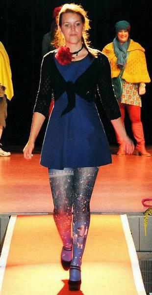 Collant MarieAntoilette Nuit de Chine défilé pret à porter
