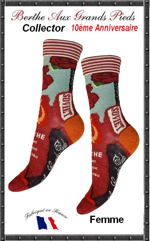 Chaussettes Berthe aux grands pieds God save Soviet