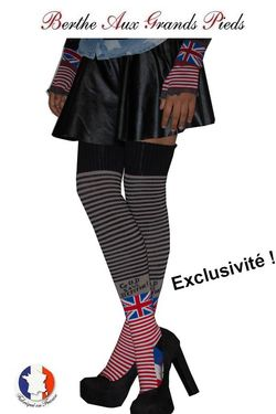 Jambière exclusive Berthe aux grands pieds God save the berthe